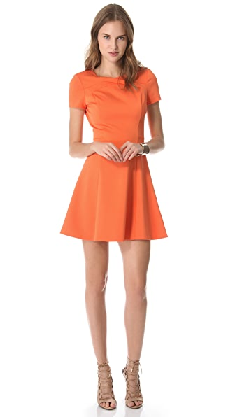 Halston Heritage Cross Neck Dress