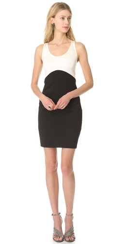 Shop Halston Heritage Sleeveless Colorblock Dress and Halston Heritage online - Apparel, Womens, Dresses, Cocktail, Night_Out,  online Store