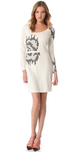 Halston Heritage Embellished Dress