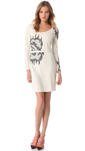 Halston Heritage Embellished Dress
