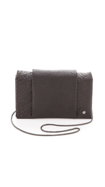 Halston Heritage Embossed Python Convertible Purse