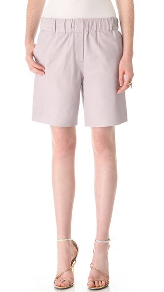 Halston Heritage Leather Shorts