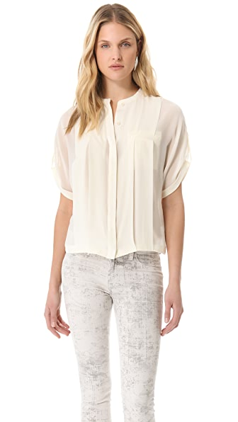 Halston Heritage Bubble Hem Top