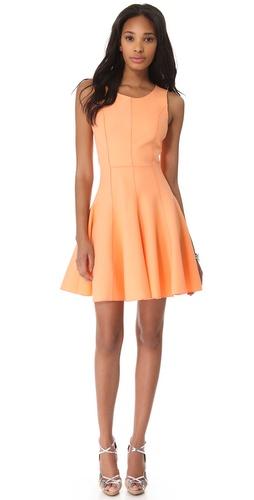 Halston Heritage Flared Skirt Ponte Dress