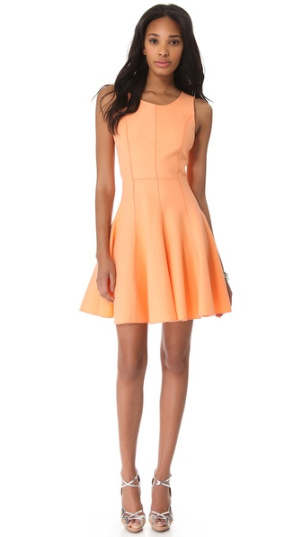 Halston Heritage Flared Skirt Ponte Dress