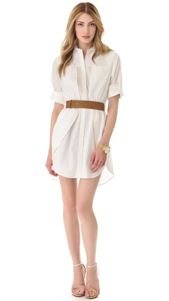 Halston Heritage Belted Shirtdress