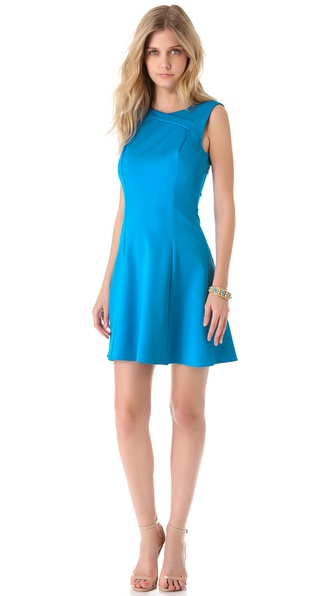 Halston Heritage Crisscross Neck Ponte Dress
