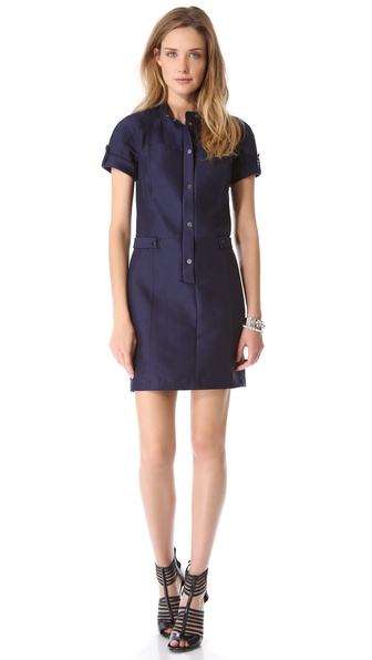 Halston Heritage Snap Front Structure Dress