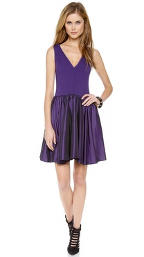 Halston Heritage V Neck Ponte Dress