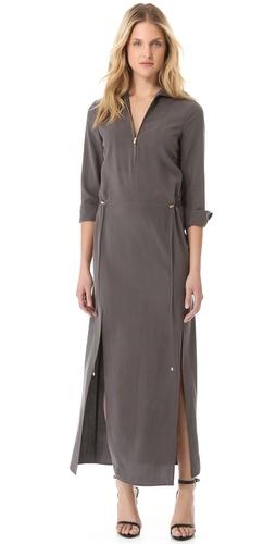 Halston Heritage Zipped Maxi Dress