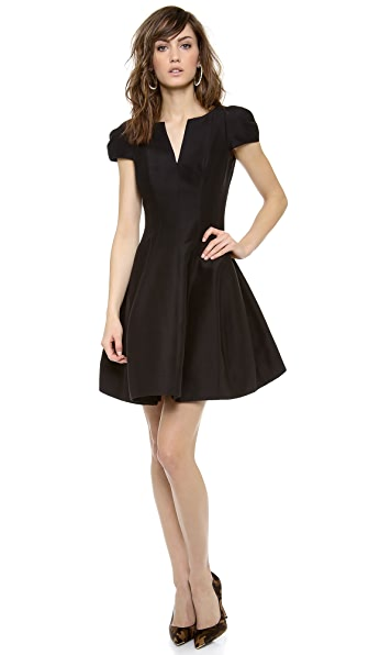 Halston Heritage Notch Neck Dress