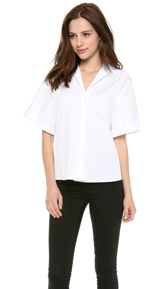 Halston Heritage Short Sleeve Button Down