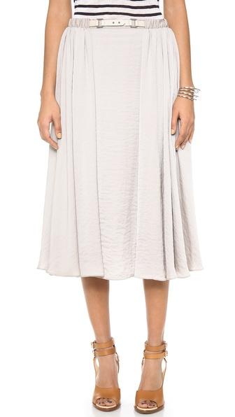 Halston Heritage Belted Skirt