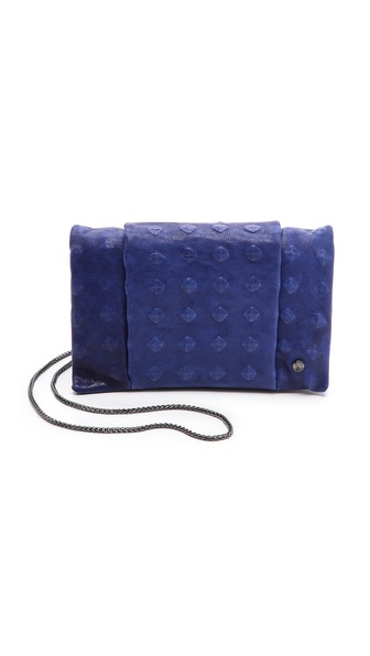 Halston Heritage Debossed Stud Wallet on a Chain