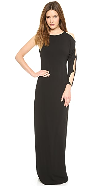 Halston Heritage One Sleeve Gown