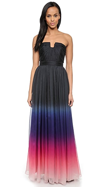 Kupi Halston Heritage haljinu online i raspordaja za kupiti Halston Heritage Strapless Ombre Gown Orchid Multi Ombre Print online