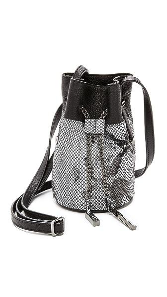 Halston Heritage Mini Bucket Bag - Black Multi