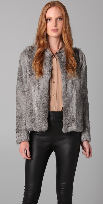 Hanii Y Rabbit Fur Jacket
