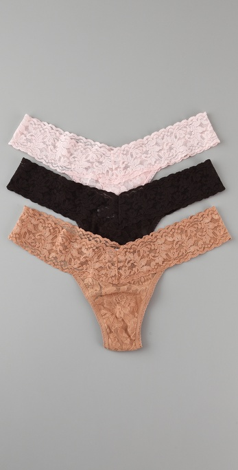 Hanky Panky Signature Lace Low Rise Thong - 3 Pack