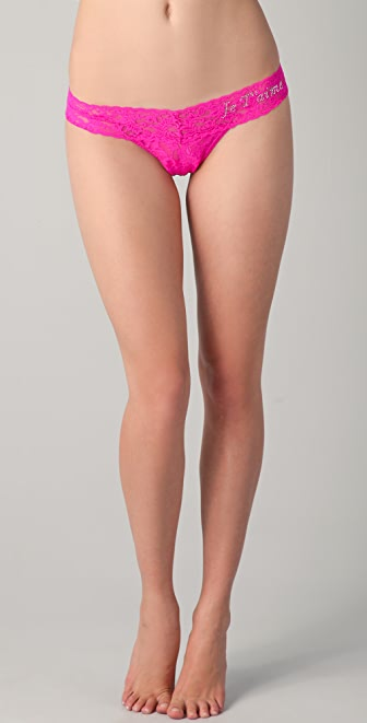 Hanky Panky Je T'aime Crystal Low Rise Thong