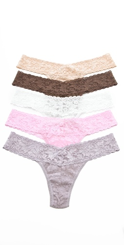 Hanky Panky Signature Lace Low Rise Thong 5 Pack