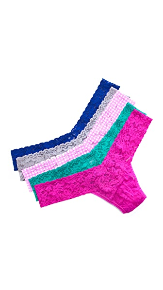 Hanky Panky Sparkle Box with 5 Low Rise Thongs