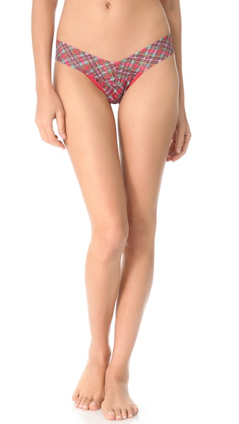 Hanky Panky Plaid Low Rise Thong