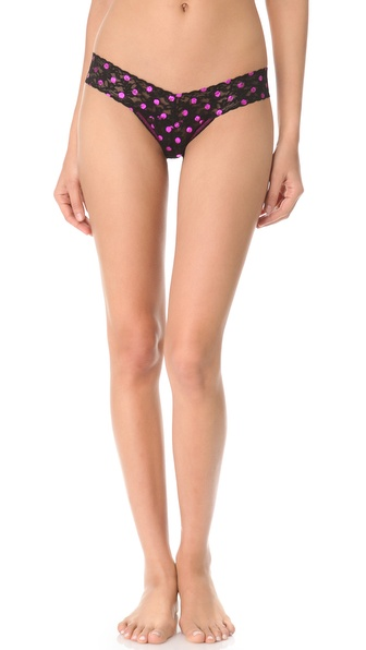 Hanky Panky Metallic Dot Low Rise Thong