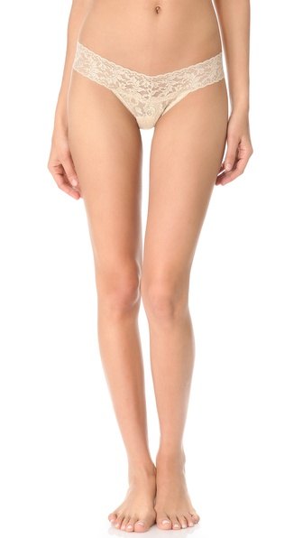 Hanky Panky Metallic Signature Lace Low Rise Thong