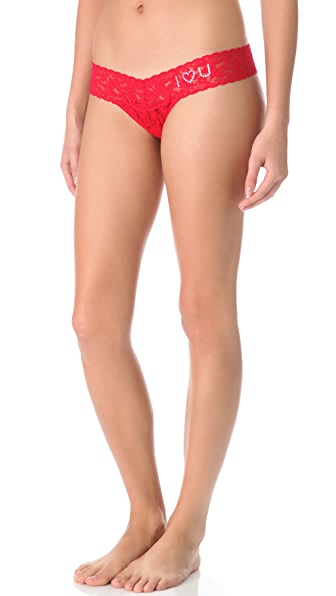 Hanky Panky I Love You Crystals Low Rise Thong