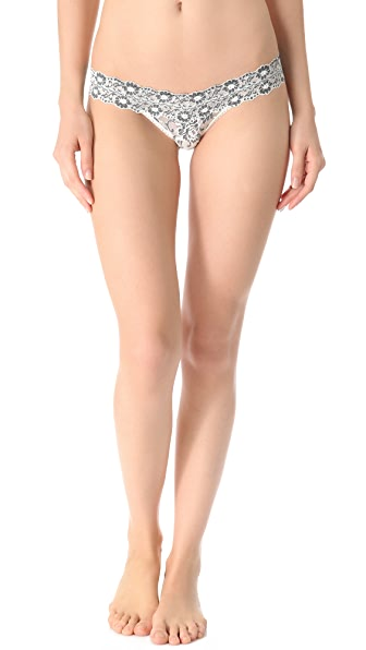 Hanky Panky Cross Dyed Signature Lace Low Rise Thong