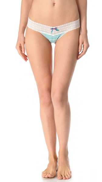 Hanky Panky Resort Stripe Mid Rise Thong