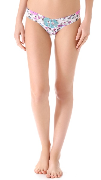 Hanky Panky Cactus Flower Low Rise Thong