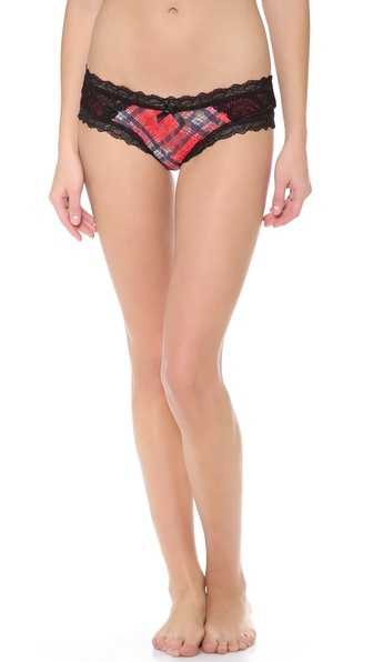 Hanky Panky Highland Tartan Lace Cheeky Hipster