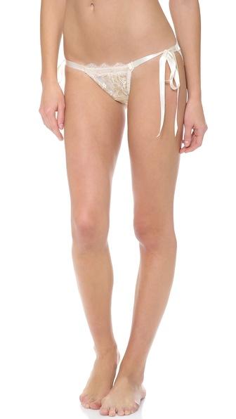 Hanky Panky Gilded Lace Side Tie Bikini Bottoms