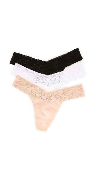 Hanky Panky Original Rise Cotton Thong 3 Pack
