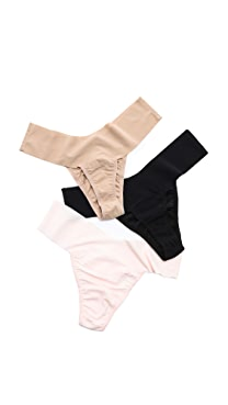 Hanky Panky Bare 3 Eve Natural Rise Thongs