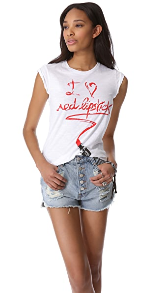 Happiness I Really Do Love Lipstick Tee