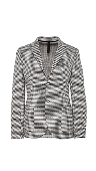 Harris Wharf London Houndstooth 2 Button Blazer