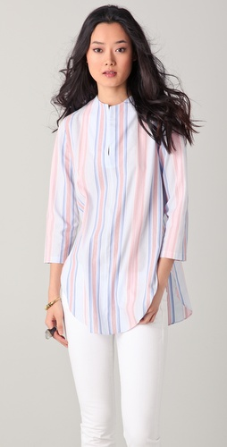 Harvey Faircloth Striped Baseball Tunic