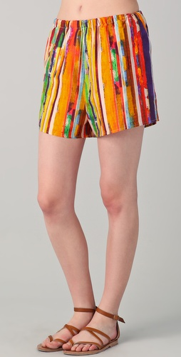 Harvey Faircloth Print Summer Shorts