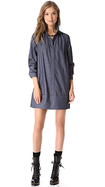 Harvey Faircloth Banded Shirtdress