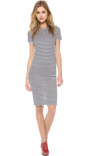 Harvey Faircloth Sailor Stripe Pencil Dress