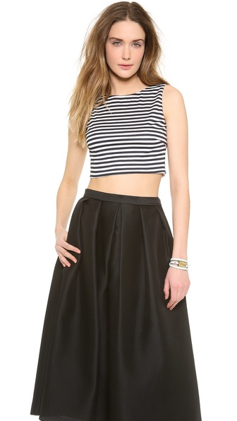 Harvey Faircloth Sailor Stripe Crop Tank