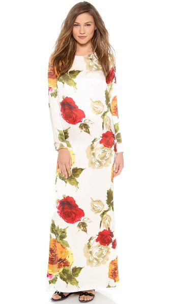 Harvey Faircloth Raglan Sleeve Maxi Dress