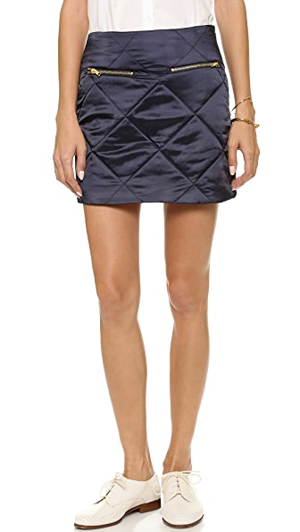 Harvey Faircloth Zip Miniskirt