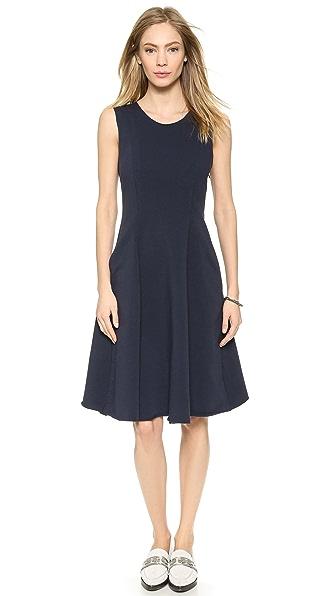 Shop Harvey Faircloth online and buy Harvey Faircloth Unfinished Sleeveless Dress - Navy dress online