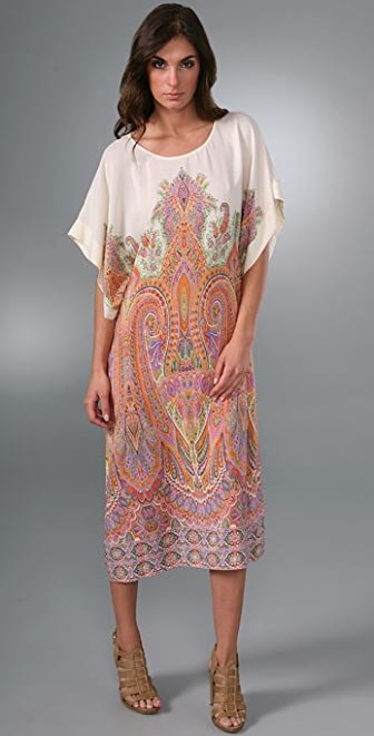 Haute Hippie Bohemian Paisley Dress