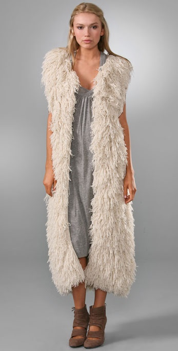 Haute Hippie Furry Vest