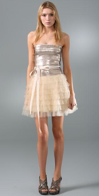 Haute Hippie Sequin Tulle Cocktail Dress